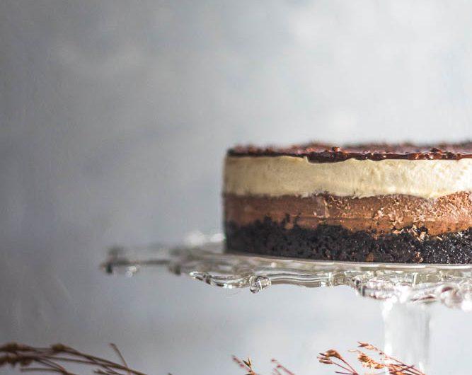 Kek keju coklat malt
